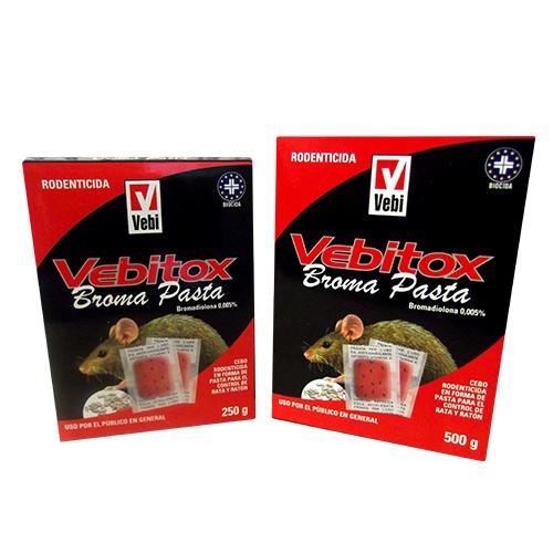 Vebitox broma pasta tamaños